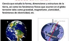 Ciencia que estudia la fuerza de gravedad