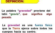 Definición de Fuerza de gravedad