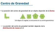 ¿Cómo encontrar el centro de gravedad de un objeto?