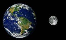 Fuerza de atracción entre la Tierra y la Luna