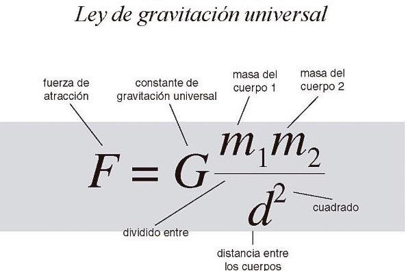 ¿Cuál es la ley de la gravitación universal?
