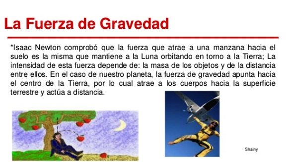 ¿Por qué se dice que la gravedad es una fuerza?