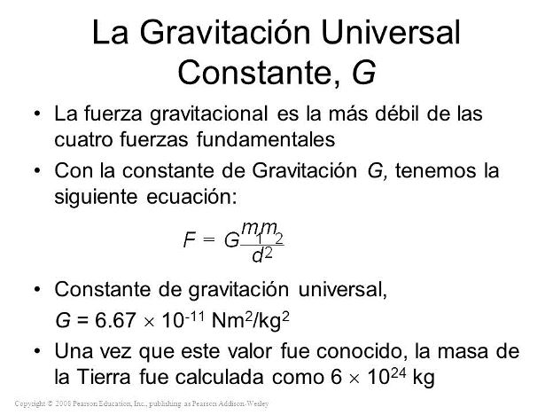 ¿Qué es la constante gravitacional?